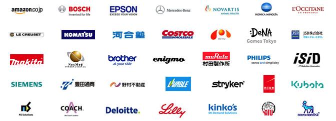 パソナキャリアで非公開での求人実績のある企業(一部)
